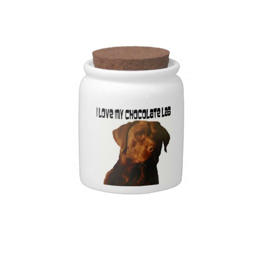 I love my Chocolate Labrador Candy Jar