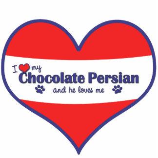 I Love My Chocolate Persian (Male Cat) Statuette