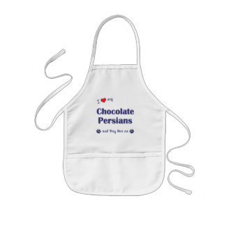 I Love My Chocolate Persians (Multiple Cats) Kids' Apron