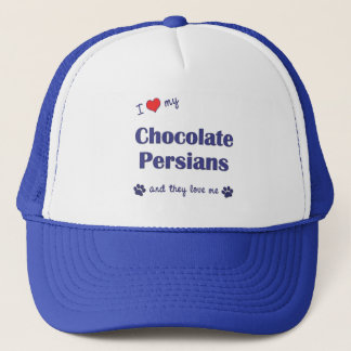 I Love My Chocolate Persians (Multiple Cats) Trucker Hat