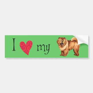I Love my Chow Bumper Sticker