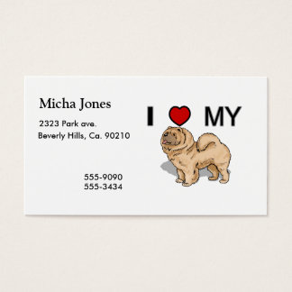 I Love My Chow Business Card
