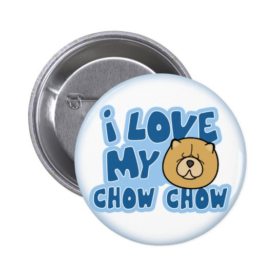 I Love My Chow Chow Button