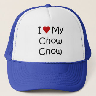I Love My Chow Chow Dog Breed Gifts and Apparel Trucker Hat