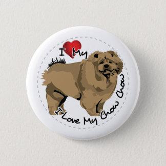 I Love My Chow Chow Dog Button