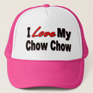 I Love My Chow Chow Dog Caps & Hats
