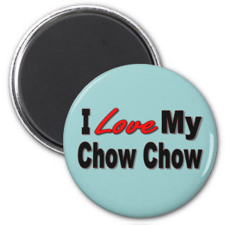 I Love My Chow Chow Dog Gifts 2 Inch Round Magnet