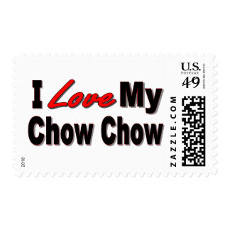 I Love My Chow Chow Dog Gifts Postage