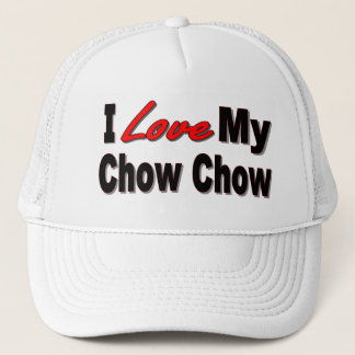 I Love My Chow Chow Dog Gifts Trucker Hat