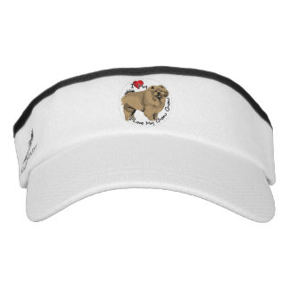 I Love My Chow Chow Dog Visor