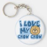 I Love My Chow Chow Keychain