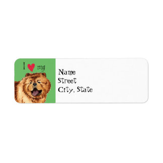 I Love my Chow Chow Label