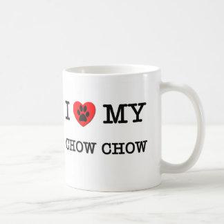 I LOVE MY CHOW CHOW CLASSIC WHITE COFFEE MUG