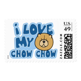I Love my Chow Chow Stamps
