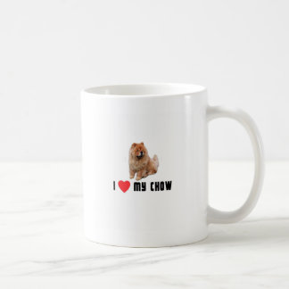 I Love My Chow Coffee Mug