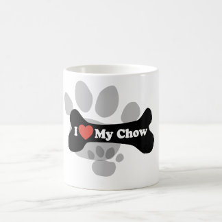 I Love My Chow - Dog Bone Coffee Mug