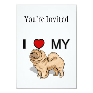 I Love My Chow 5x7 Paper Invitation Card