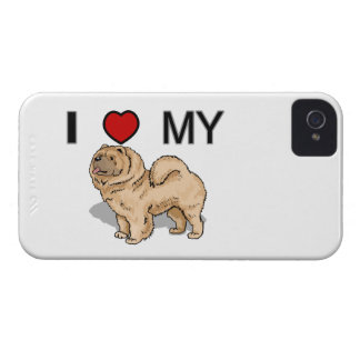 I Love My Chow iPhone 4 Case