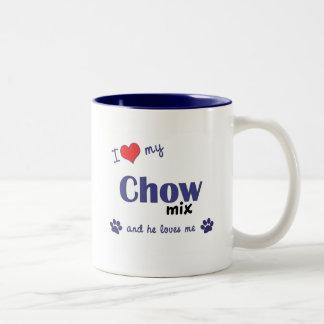 I Love My Chow Mix (Male Dog) Two-Tone Coffee Mug