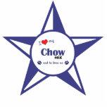 I Love My Chow Mix (Male Dog) Photo Cutout