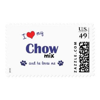 I Love My Chow Mix (Male Dog) Postage