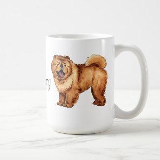 I Love my Chow Classic White Coffee Mug