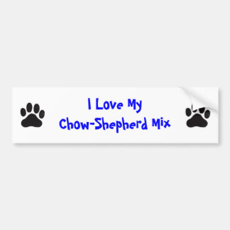 I Love My Chow-Shepherd Mix Car Bumper Sticker