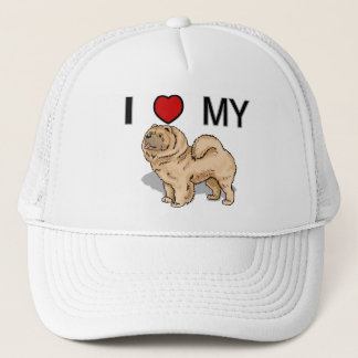 I Love My Chow Trucker Hat