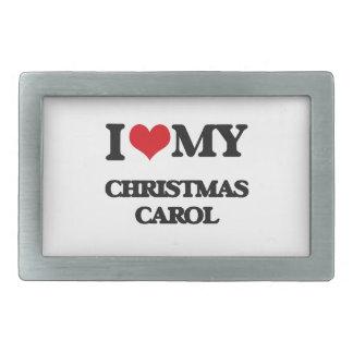 I Love My CHRISTMAS CAROL Belt Buckles