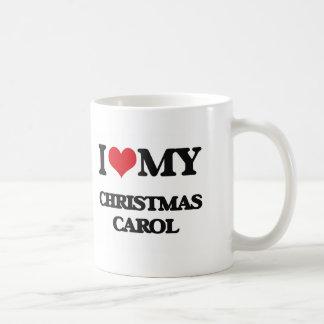 I Love My CHRISTMAS CAROL Classic White Coffee Mug