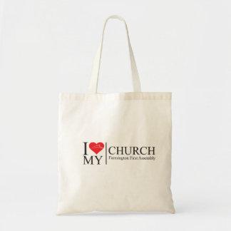 I Love My Church Budget Tote Bag