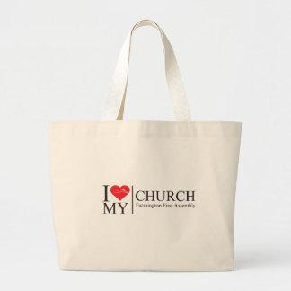 I Love My Church Jumbo Tote Bag