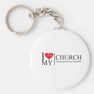 I Love My Church Keychain