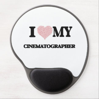 I love my Cinematographer (Heart Made from Words) Gel Mouse Pad
