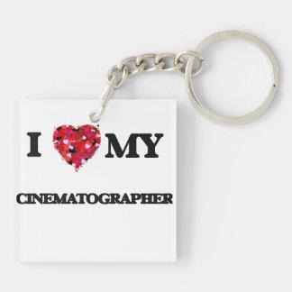 I love my Cinematographer Double-Sided Square Acrylic Keychain