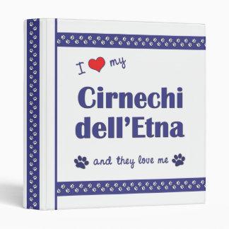 I Love My Cirnechi dell'Etna (Multiple Dogs) Binder