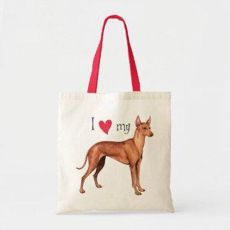 I Love my Cirneco dell Etna Canvas Bag