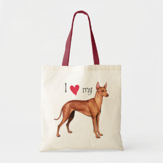 I Love my Cirneco dell'Etna Canvas Bag