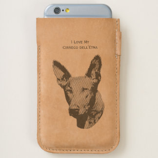 I Love My Cirneco dell'Etna - leather iPhone 6/6S Case