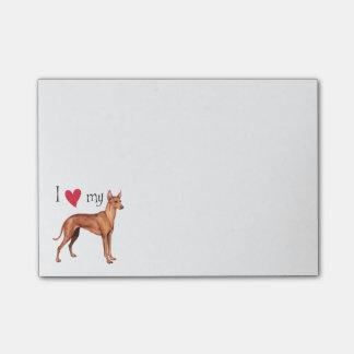 I Love my Cirneco dell'Etna Post-it® Notes