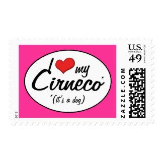 I Love My Cirneco (It's a Dog) Postage