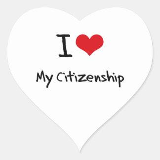 I love My Citizenship Stickers