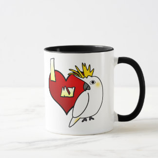 I Love my Citron Cockatoo Mug