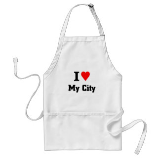 I love my city adult apron