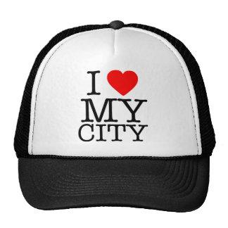 I Love my city Trucker Hat