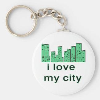 I Love My City! Keychain