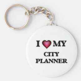 I love my City Planner Keychain