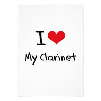 I love My Clarinet Custom Invitations