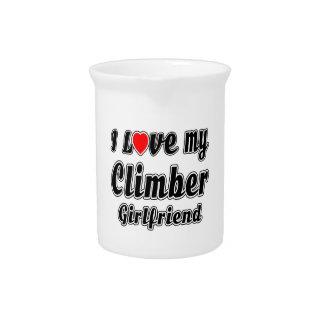 I love my Climber Girlfriend Drink Pitchers