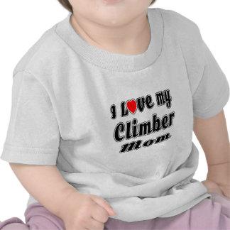 I Love My Climber Mom Shirts